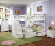 Columbia Full Bunk Bed with Staircase White | Atlantic Furniture | ATLCOL-SSFF-WH