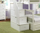 Columbia Twin over Full Staircase Bunk Bed White | 24393 | ATLCOL-SSTF-WH