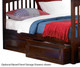 Columbia Staircase Bunk Bed Antique Walnut   24394   ATLCOL-SSTT-AW