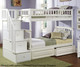Columbia Staircase Bunk Bed White | 24397 | ATLCOL-SSTT-WH