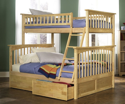 Columbia Twin over Full Bunk Bed Natural | Atlantic Furniture | ATLCOL-TF-NM