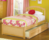 Windsor Twin Size Trundle Bed Natural Maple | Atlantic Furniture | ATLWIN-TRT-NM