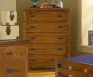 Heartland 5 Drawer Chest | American Woodcrafters | AW1800-150