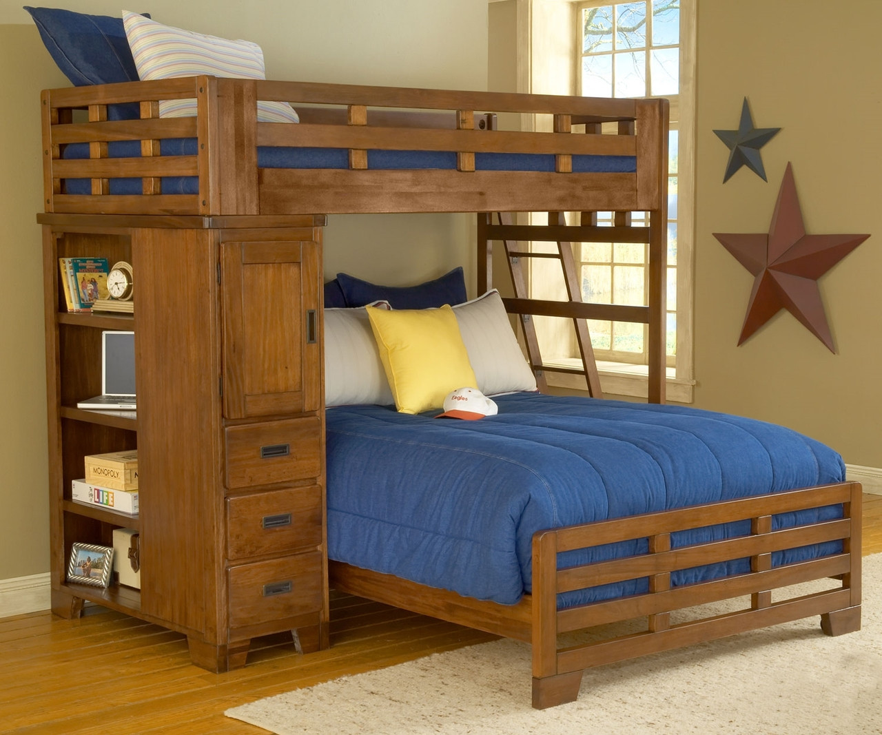 Heartland Twin over Full Loft Bed