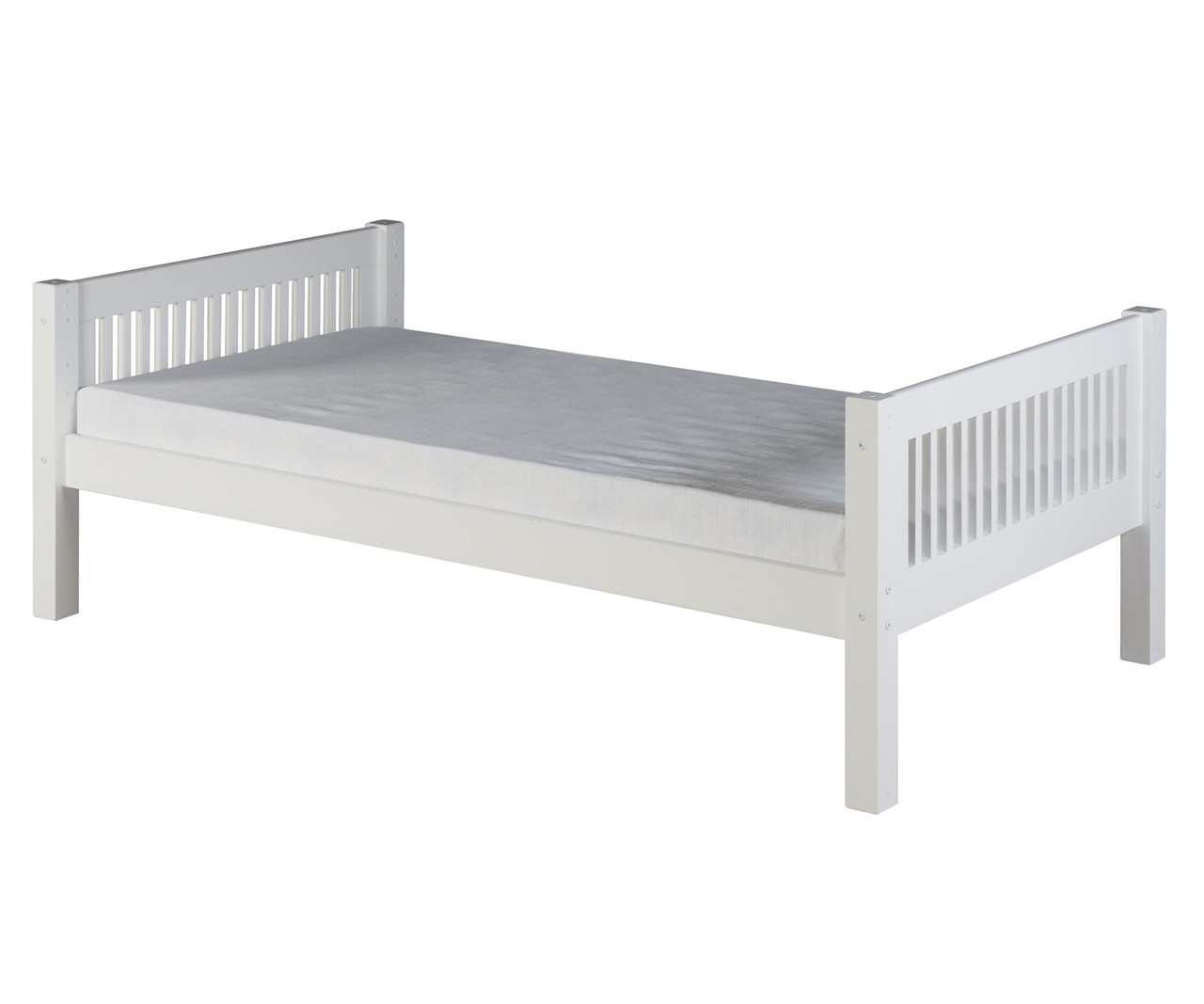 Camaflexi Twin Platform Bed In White Finish E113 Camaflexi Furniture Solid Wood Kids Furniture