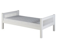 Camaflexi Low Platform Bed Twin Size White 1 | Camaflexi Furniture | CF-E113