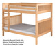 Camaflexi High Bunk Bed Full Size Natural 2 | Camaflexi Furniture | CF-E1621