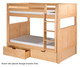 Camaflexi High Bunk Bed Full Size Natural 2 | 24579 | CF-E1621