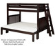 Camaflexi High Bunk Bed Twin over Full Size Natural 1 | 24586 | CF-E1711L