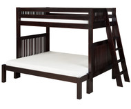Camaflexi High Bunk Bed Twin over Full Size Cappuccino 1 | Camaflexi Furniture | CF-E1712L