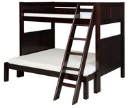Camaflexi High Bunk Bed Twin over Full Size Cappuccino 2 | Camaflexi Furniture | CF-E1722A
