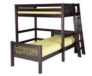 Camaflexi L-Shaped High Loft Bed Twin Size Cappuccino 1 | Camaflexi Furniture | CF-E1812L