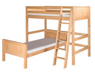Camaflexi L-Shaped High Loft Bed Twin Size Natural 1 | Camaflexi Furniture | CF-E1821