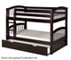 Camaflexi Low Bunk Bed Twin Size Cappuccino | 24601 | CF-E2002