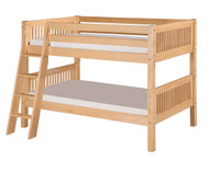 Camaflexi Low Bunk Bed Twin Size Natural 1 | Camaflexi Furniture | CF-E2011A