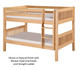 Camaflexi Low Bunk Bed Twin Size Natural 1 | 24606 | CF-E2011A