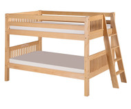 Camaflexi Low Bunk Bed Twin Size Natural 2 | Camaflexi Furniture | CF-E2011L