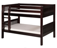 Camaflexi Low Bunk Bed Twin Size Cappuccino 2 | Camaflexi Furniture | CF-E2012
