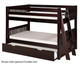 Camaflexi Low Bunk Bed Twin Size Cappuccino 4 | 24610 | CF-E2012L
