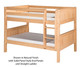 Camaflexi Low Bunk Bed Twin Size Natural 4 | 24616 | CF-E2021A