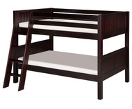 Camaflexi Low Bunk Bed Twin Size Cappuccino 6 | Camaflexi Furniture | CF-E2022A