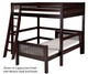 Camaflexi L-Shaped High Loft Bed Full over Twin Size Natural   24623   CF-E2111