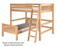 Camaflexi L-Shaped High Loft Bed Full over Twin Size White | 24625 | CF-E2113