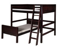 Camaflexi L-Shaped High Loft Bed Full over Twin Size Cappuccino 1 | Camaflexi Furniture | CF-E2122
