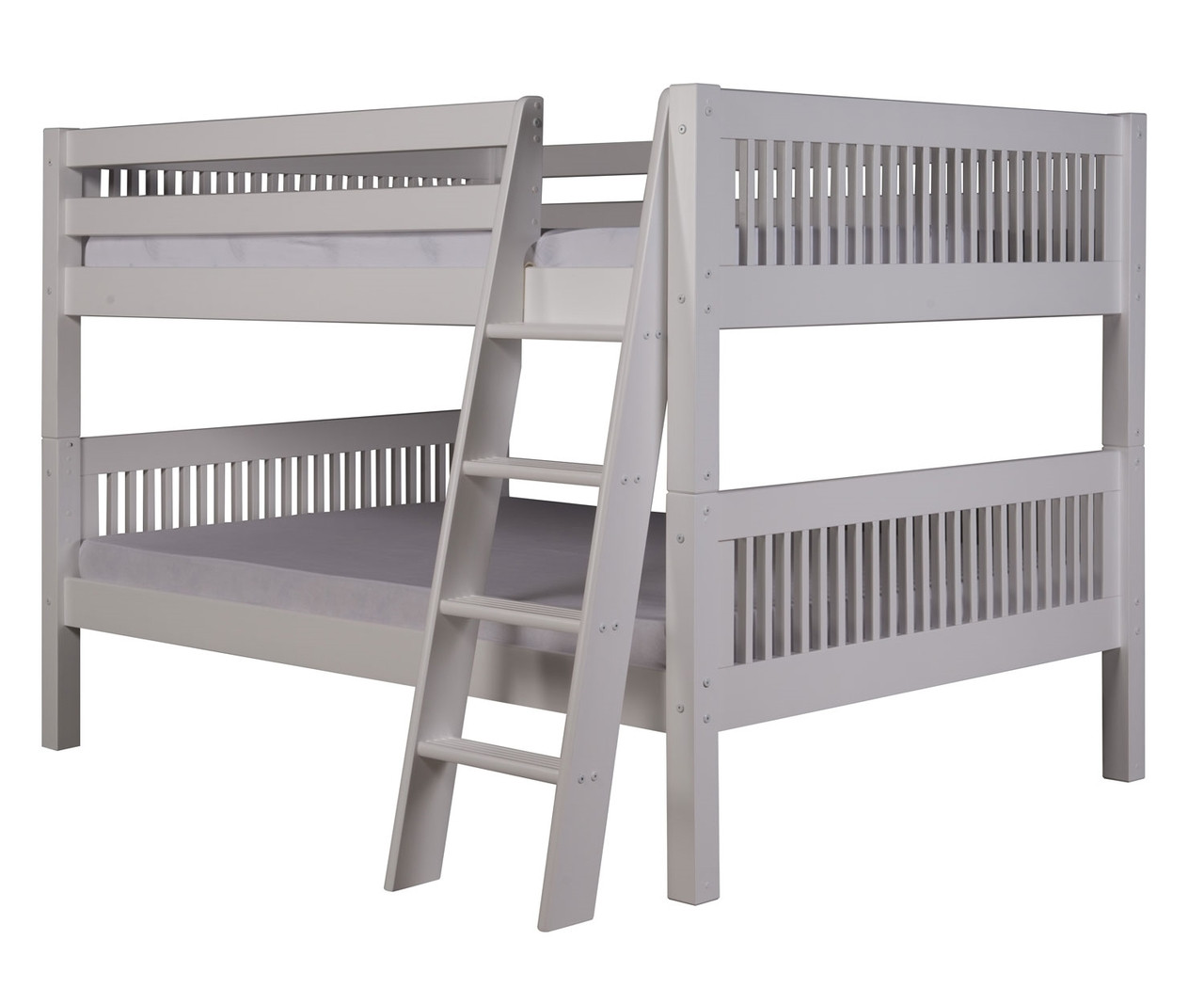 Picture of: Camaflexi Full Over Full Bunk Bed In White Finish E2213a Camaflexi Furniture Solid Wood Kids Furniture