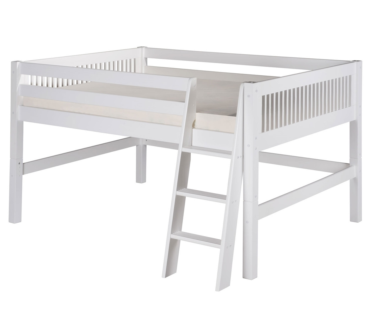 Camaflexi Full Loft Bed In White Finish E413f Camaflexi Furniture