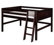 Camaflexi Low Loft Bed Full Size Cappuccino 2 | Camaflexi Furniture | CF-E422F