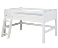 Camaflexi Low Loft Bed Twin Size White 3 | Camaflexi Furniture | CF-E423