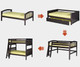 Camaflexi Low Loft Bed with Slide Twin Size Cappuccino 1 | Camaflexi Furniture | CF-E512