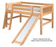 Camaflexi Low Loft Bed with Slide Twin Size Natural 1 | Camaflexi Furniture | CF-E521
