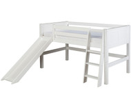 Camaflexi Low Loft Bed with Slide Twin Size White 2 | Camaflexi Furniture | CF-E523