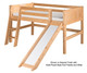 Camaflexi Low Loft Bed with Slide Twin Size White 2 | 24691 | CF-E523
