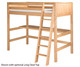 Camaflexi High Loft Bed Full Size Natural 2 | 24714 | CF-E621F