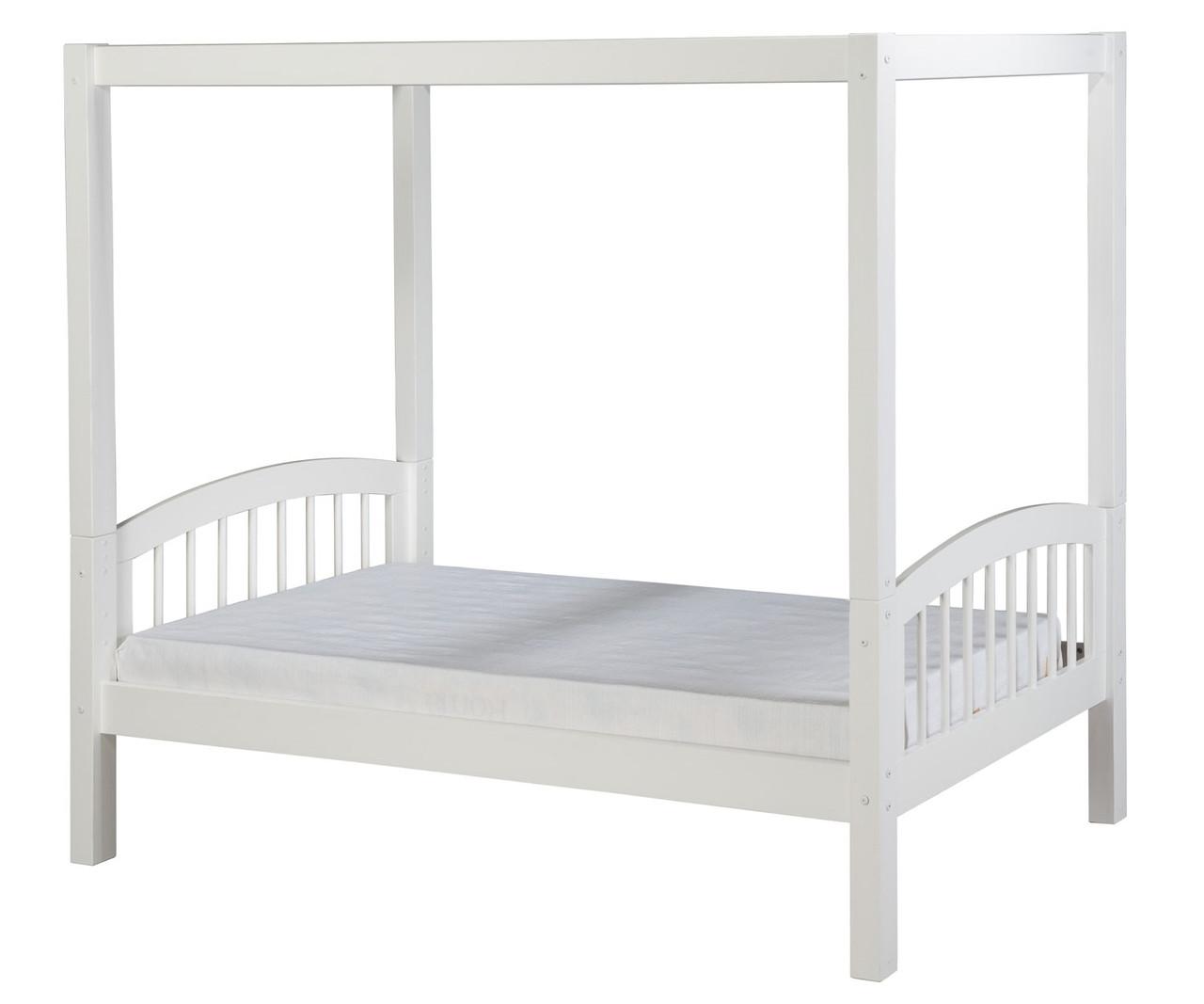 Camaflexi Twin Canopy Bed In White Finish E803 Camaflexi Furniture Solid Wood Kids Furniture