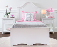 Craft CHARLESTON Panel Bed Twin Size White | Craft Furniture | CK-CHARLESTON