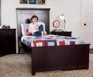 Craft LONDON Panel Bed Twin Size Espresso | Craft Furniture | CK-LONDON