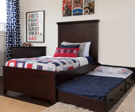 Craft LONDON Panel Bed with Trundle Twin Size Espresso | Craft Furniture | CK-LONDONX
