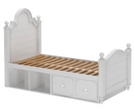 Craft SYDNEY Panel Bed with Drawer and Cubbies Twin Size White | Craft Furniture | CK-SYDNEY2