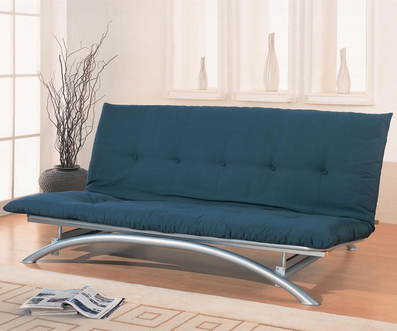 Coaster Metal Futon Sofa In Silver Finish 300008   Coaster ...