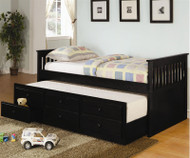 Mission Captains Trundle Bed Black | Coaster Furniture | CS300104