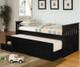 Mission Captains Trundle Bed Black | Coaster Furniture | CS300104