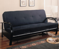 Coaster Black Metal Futon Sofa | Coaster Furniture | CS300159