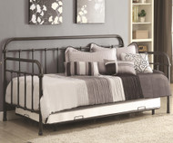 Coaster Metal Daybed with Trundle Dark Bronze | Coaster Furniture | CS300398