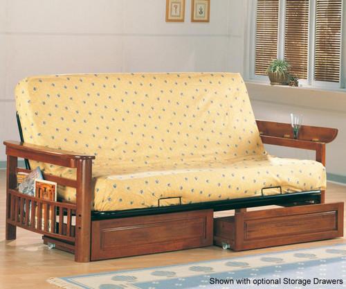 Coaster Weathered Oak Futon Sofa | Coaster Furniture | CS4075