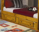 Wrangle Hill Full over Full Bunk Bed with Stairs Amber Wash | 24824 | CS460096-98-Sm-46bunky