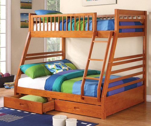 Sedona Twin over Full Bunk Bed with Drawers   Coaster Furniture   CS460183
